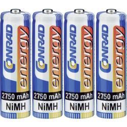 Tužkové akumulátory Conrad energy AA NiMH, 2750mAh, 4 ks
