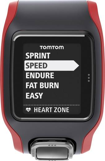 TomTom Multi-Sport Cardio CSS+AM GPS Uhr Fitness-Tracker Rot/Schwarz