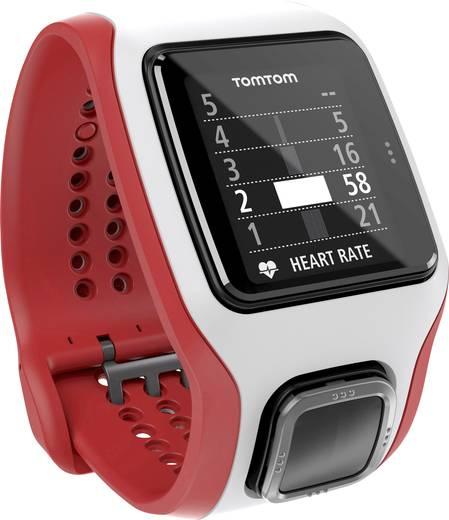 TomTom Sports Runner Cardio GPS Pulsuhr ohne Brustgurt Weiß-Rot