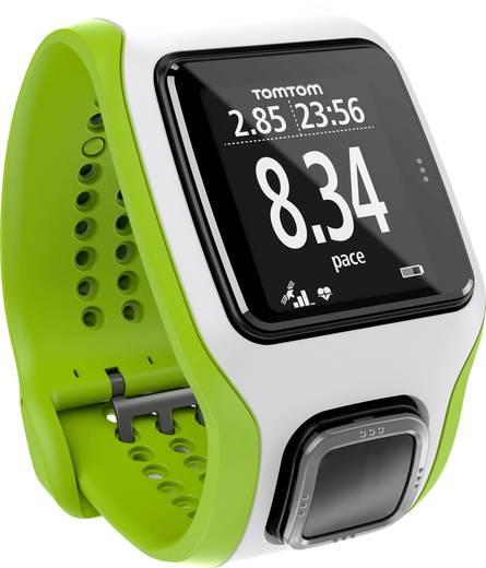 TomTom Sports Runner Cardio GPS Pulsuhr ohne Brustgurt Weiß/Grün