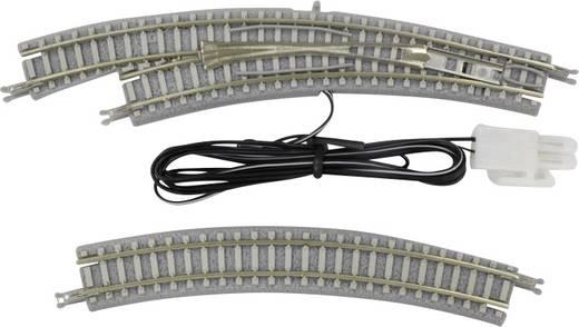 Z Rokuhan Gleis (mit Bettung) 7297057 Bogenweiche, elektrisch, links 30 ° 220 mm, 195 mm