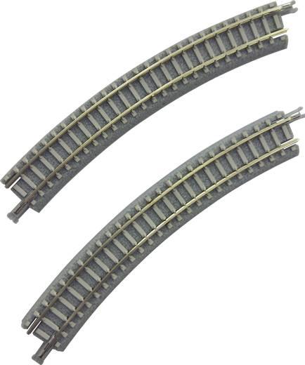 Z Rokuhan Gleis (mit Bettung) 7297066 Gebogenes Gleis, überhöht 30 ° 195 mm