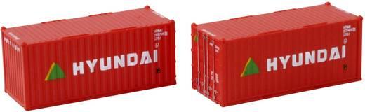 Rokuhan 7297549 Z 2er-Set 20´ Container Hyundai