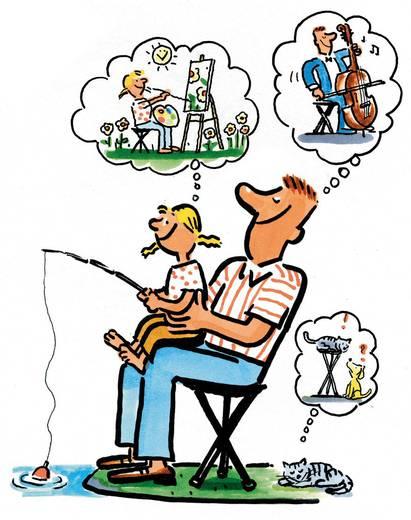 Camping Stuhl Walkstool Comfort XXXL Schwarz/Silber 63549