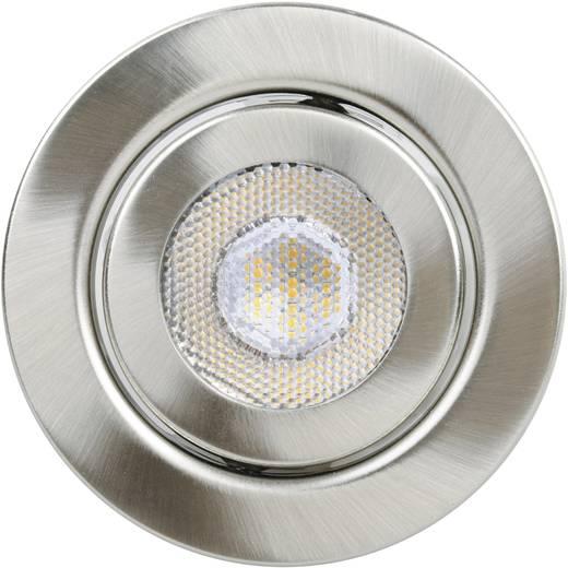 TLT International Opia LT1153537 LED-Einbauleuchte 3er Set 12 W Warm-Weiß Nickel (gebürstet)