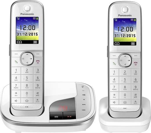 Schnurloses Telefon analog Panasonic KX-TGJ322GW Anrufbeantworter, Freisprechen, Headsetanschluss Weiß