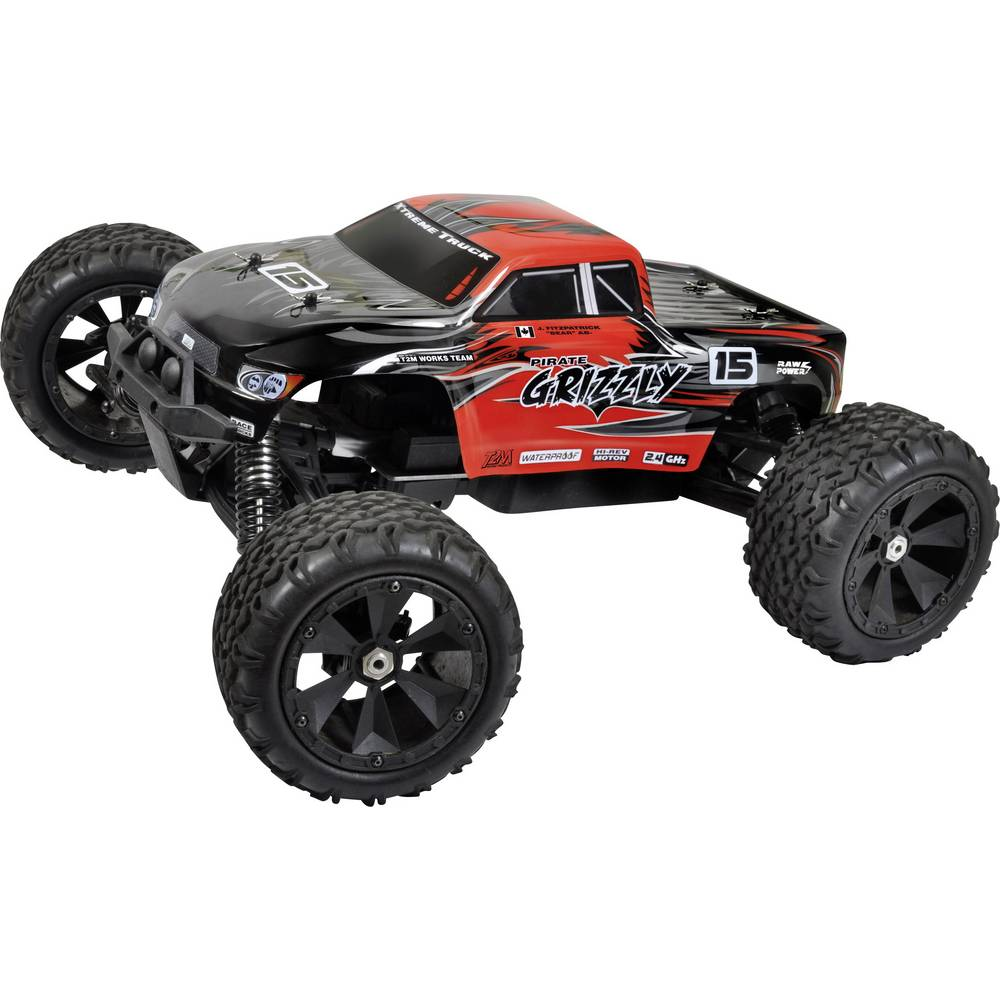 monstertruck lectrique t2m pirate grizzly brushless 2 4. Black Bedroom Furniture Sets. Home Design Ideas