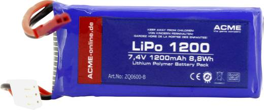 ACME Modellbau-Akkupack (LiPo) 7.4 V 1200 mAh Zellen-Zahl: 2 Stick BEC