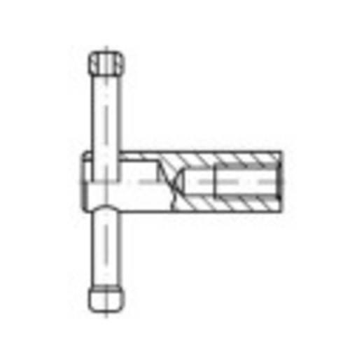 Knebelmuttern M10 Stahl brüniert 1 St. TOOLCRAFT 137874