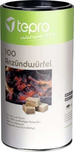 Grillanzünder tepro Garten Anzündwürfel aus Holz & Wachs