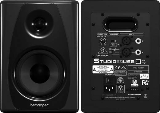 Aktiver Monitor-Lautsprecher 12.7 cm 5 Zoll Behringer STUDIO 50 USB 150 W 1 Paar