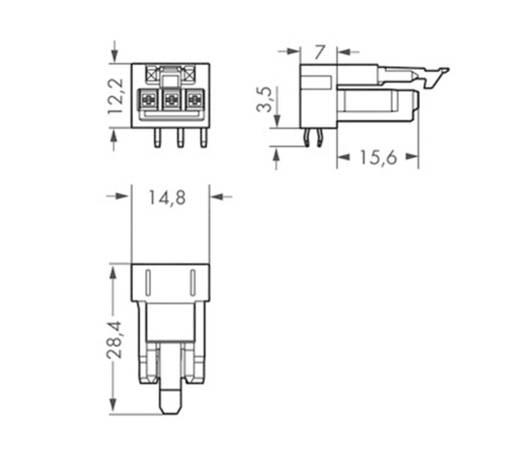 Netz-Steckverbinder WINSTA MINI Serie (Netzsteckverbinder) WINSTA MINI Buchse, Einbau horizontal 16 A Pink WAGO 100 St
