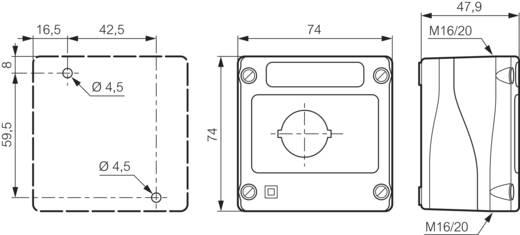 Leergehäuse 1 Einbaustelle (L x B x H) 74 x 74 x 48 mm Schwarz BACO LBX0100RG 1 St.