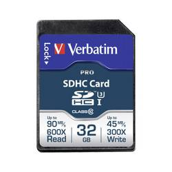 Pamäťová karta SDHC, 32 GB, Verbatim PRO, Class 10 UHS-I, Class 10