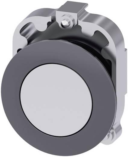 Drucktaster Frontring Metall, Betätiger flach Weiß Druckentriegelung Siemens SIRIUS ACT 3SU1060-0JA60-0AA0 1 St.