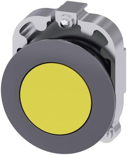 Drucktaster Frontring Metall, Betätiger flach Gelb Siemens SIRIUS ACT 3SU1060-0JB30-0AA0 1 St.