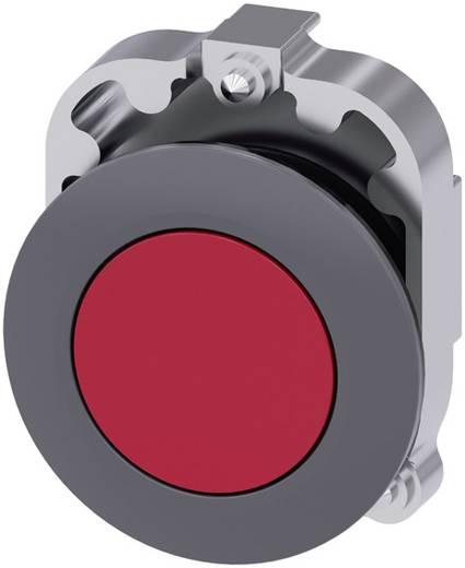Drucktaster Frontring Metall, Betätiger flach Rot Druckentriegelung Siemens SIRIUS ACT 3SU1060-0JA20-0AA0 1 St.