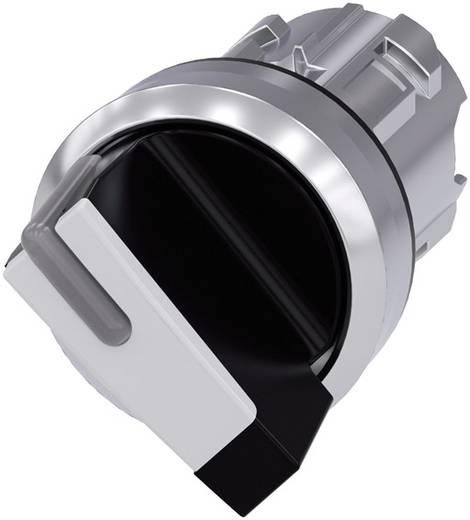 Drehschalter Frontring Metall, Hochglanz Schwarz, Weiß 1 x 90 ° Siemens SIRIUS ACT 3SU1052-2BF60-0AA0 1 St.
