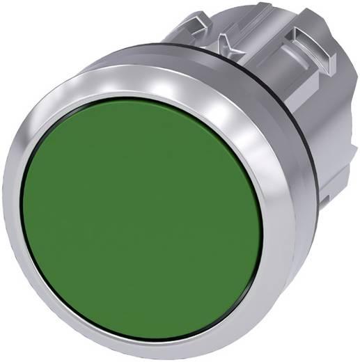 Drucktaster Frontring Metall, Hochglanz, Betätiger flach Grün Siemens SIRIUS ACT 3SU1050-0AB40-0AA0 1 St.