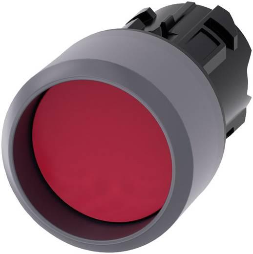 Drucktaster Bund vorstehend, Frontring Metall Rot Siemens SIRIUS ACT 3SU1030-0CB20-0AA0 1 St.