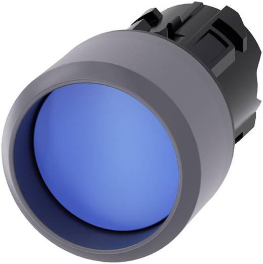 Drucktaster Bund vorstehend, Frontring Metall Blau Siemens SIRIUS ACT 3SU1030-0CB50-0AA0 1 St.