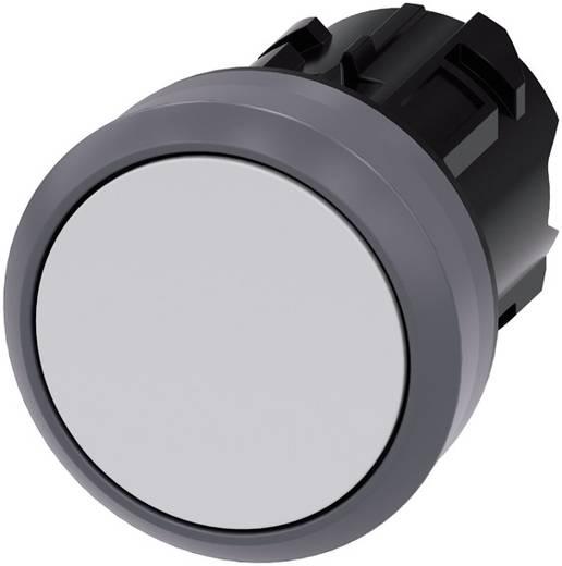 Drucktaster Betätiger flach, Frontring Metall Weiß Siemens SIRIUS ACT 3SU1030-0AB60-0AA0 1 St.