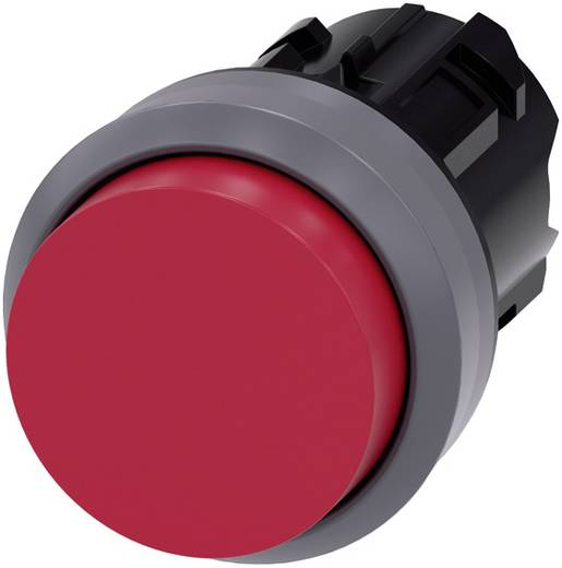 Drucktaster Bund vorstehend, Frontring Metall Rot Siemens SIRIUS ACT 3SU1030-0BB20-0AA0 1 St.