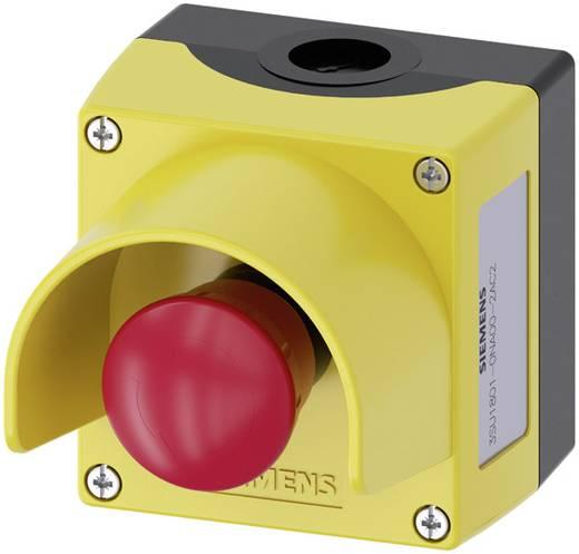 Pilztaster im Gehäuse, mit Schutzkragen Gelb Drehentriegelung Siemens SIRIUS ACT 3SU1801-0NA00-2AC2 1 St.