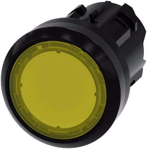 Drucktaster Betätiger flach, Frontring Kunststoff Gelb Siemens SIRIUS ACT 3SU1001-0AB30-0AA0 1 St.