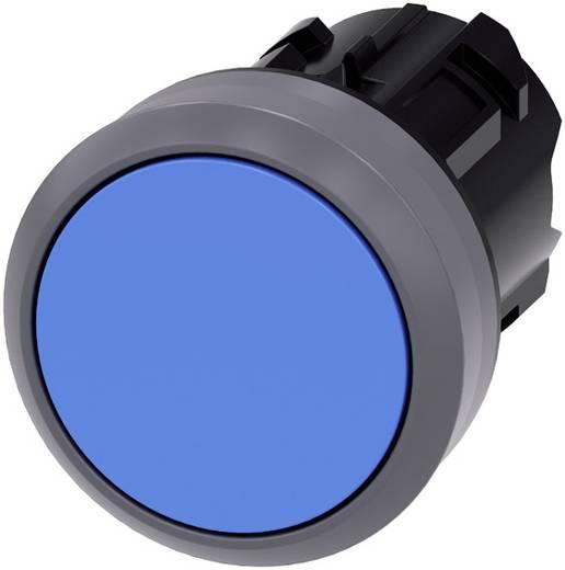 Drucktaster Betätiger flach, Frontring Metall Blau Siemens SIRIUS ACT 3SU1030-0AB50-0AA0 1 St.