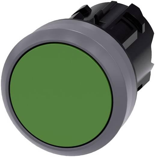 Drucktaster Betätiger flach, Frontring Metall Grün Siemens SIRIUS ACT 3SU1030-0AB40-0AA0 1 St.