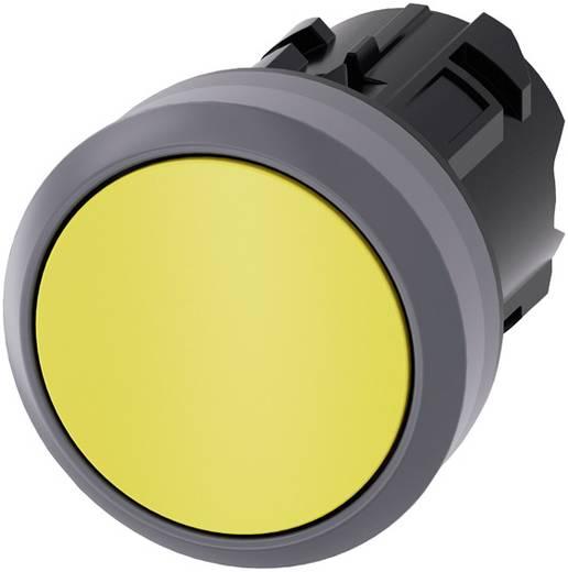 Drucktaster Betätiger flach, Frontring Metall Gelb Siemens SIRIUS ACT 3SU1030-0AB30-0AA0 1 St.