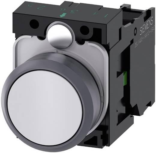 Drucktaster Frontring Kunststoff, Betätiger flach Weiß Siemens SIRIUS ACT 3SU1130-0AB60-1BA0 1 St.