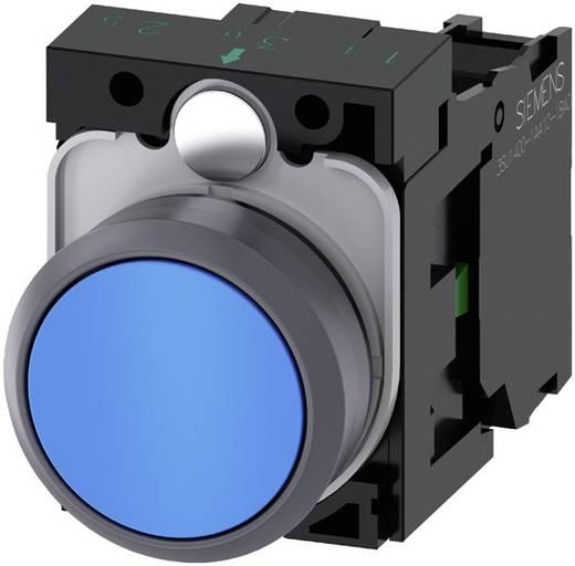 Drucktaster Frontring Kunststoff, Betätiger flach Blau Siemens SIRIUS ACT 3SU1130-0AB50-1BA0 1 St.