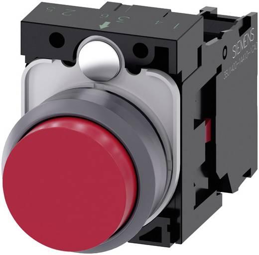 Drucktaster Frontring Kunststoff, Betätiger flach Rot Siemens SIRIUS ACT 3SU1130-0BB20-1CA0 1 St.