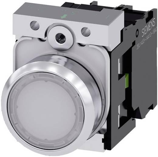 Drucktaster Frontring Metall, Hochglanz, Betätiger flach Weiß Siemens SIRIUS ACT 3SU1152-0AB60-1BA0 1 St.