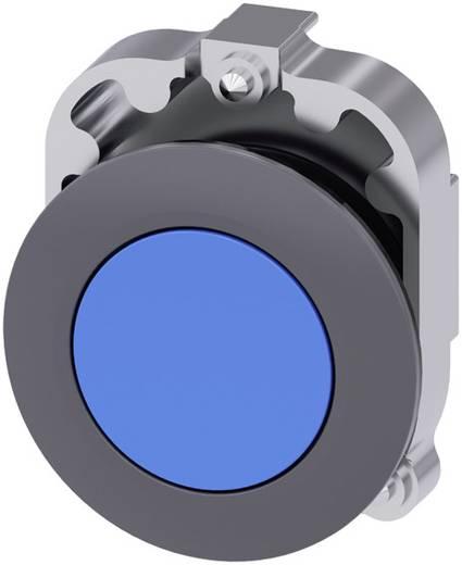 Drucktaster Frontring Metall, Betätiger flach Blau Siemens SIRIUS ACT 3SU1060-0JB50-0AA0 1 St.