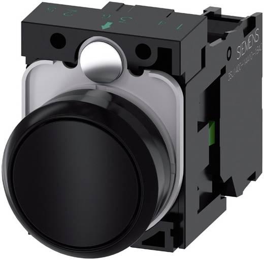 Drucktaster Frontring Kunststoff, Betätiger flach Schwarz Siemens SIRIUS ACT 3SU1100-0AB10-1BA0 1 St.