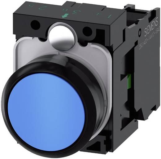 Drucktaster Frontring Kunststoff, Betätiger flach Blau Siemens SIRIUS ACT 3SU1100-0AB50-1BA0 1 St.