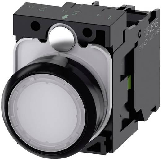 Drucktaster Frontring Kunststoff, Betätiger flach Weiß Siemens SIRIUS ACT 3SU1102-0AB60-1BA0 1 St.
