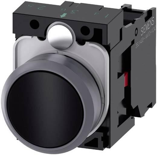 Drucktaster Frontring Kunststoff, Betätiger flach Schwarz Siemens SIRIUS ACT 3SU1130-0AB10-1CA0 1 St.