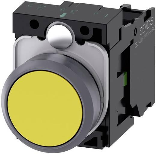 Drucktaster Frontring Kunststoff, Betätiger flach Gelb Siemens SIRIUS ACT 3SU1130-0AB30-1BA0 1 St.