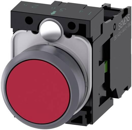 Drucktaster Frontring Kunststoff, Betätiger flach Rot Siemens SIRIUS ACT 3SU1130-0AB20-1BA0 1 St.