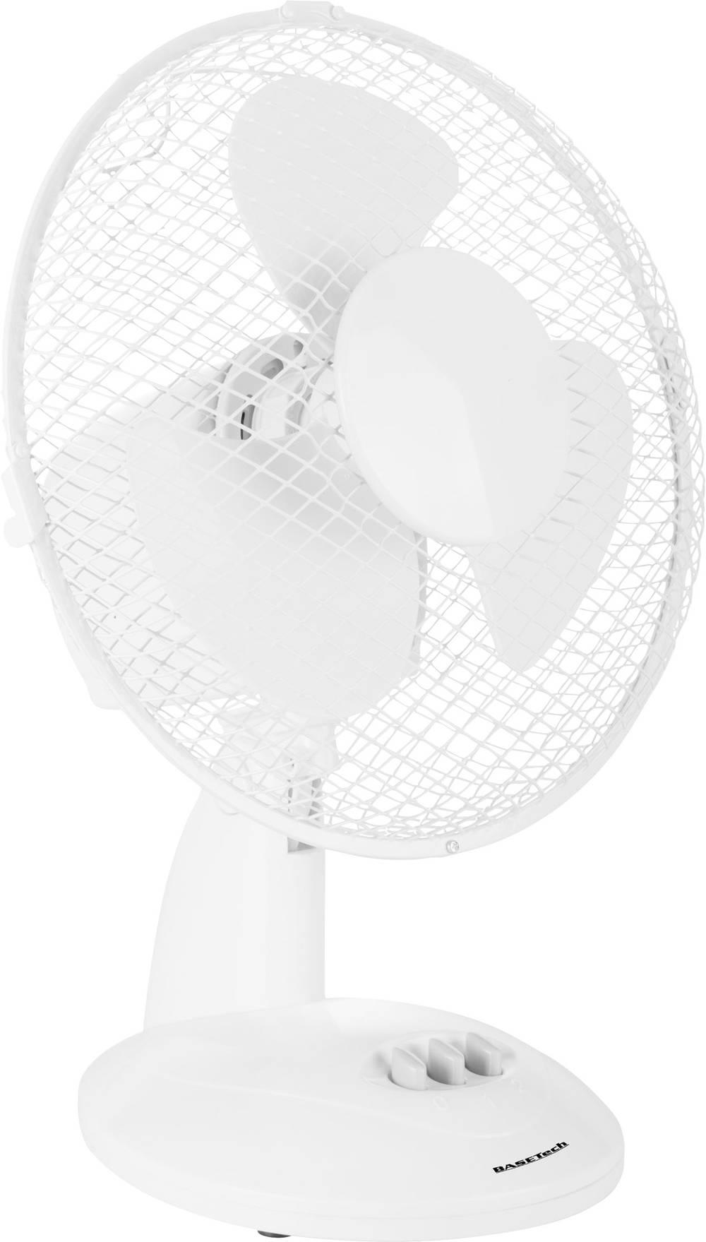 Ventilateur de table Basetech 20 W blanc sur le site