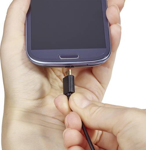 Renkforce USB 2.0 A/Micro-B Anschlusskabel 1 m mit beidseitgem Wende-Stecker -Kabel nie wieder falsch herum einstecken