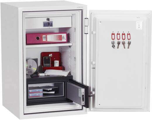 Feuerschutztresor Phoenix DS2502K Data Combi wasserabweisend, feuerfest Schlüsselschloss