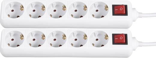 Gembird Überspannungsschutz-Steckdosenleiste 5fach Weiß Schutzkontakt