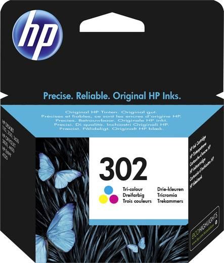 HP Tinte 302 Original Cyan, Magenta, Gelb F6U65AE