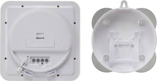 Renkforce E0006R Funk Wanduhr 168 mm x 168 mm x 60 mm Weiß Badezimmer-/Feuchtraum geeignet