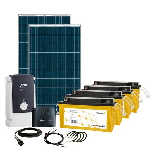 Solar-Set Solar Rise Six Phaesun 600283 500 Wp inkl. Akku, inkl. Anschlusskabel, inkl. Laderegler, inkl. Wechselrichter